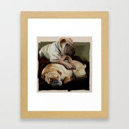 pups Framed Art Print