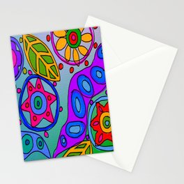 Abstract Wild Flowers Digital Painting Stationery Cards