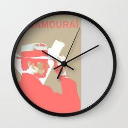 Le Samourai 3 Wall Clock