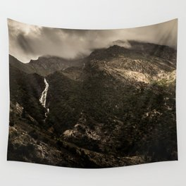 Dark Mountains Wall Tapestry