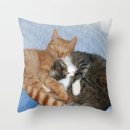 Sleeping Sweeties Throw Pillow