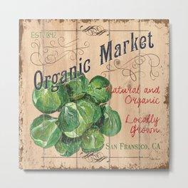 Market Sign 1 Metal Print