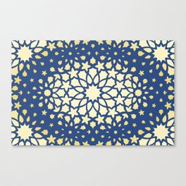 Arabesque Pattern - Golden Hour Canvas Print