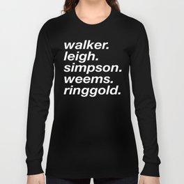 WOC curators and artists (black version) Long Sleeve T-shirt