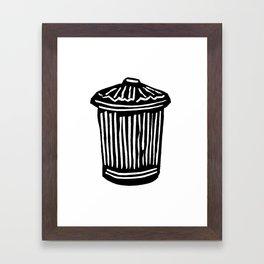 Trash Can Framed Art Print