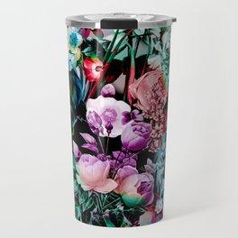 Multicolor Floral Pattern Travel Mug