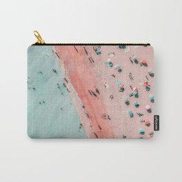 Aerial Beach Print, Ocean Art, Bondi Beach, Beach Art Print, Beach Photography, Modern Beach Lifestyle Print Carry-All Pouch