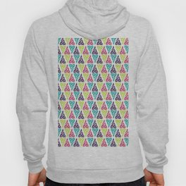Geometrical pink lime abstract triangles pattern Hoody