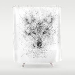 WolF Line Shower Curtain