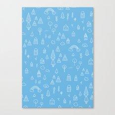 my blue chalkboard  Canvas Print