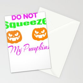 Don't Squeeze Pumpkins Halloween Jack o Lantern Stationery Cards