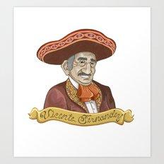 Vicente Fernandez  Art Print