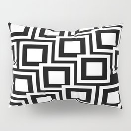 Black and White Squares Pattern 02 Pillow Sham