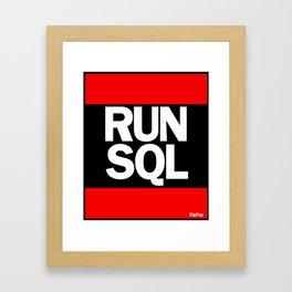 RUN SQL Framed Art Print