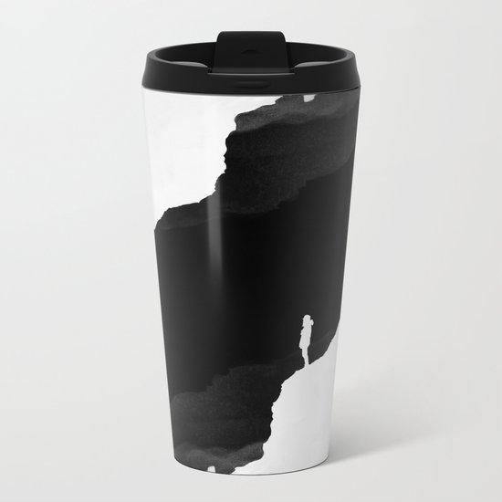 Black Isolation Metal Travel Mug