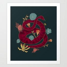 Snakes in the Garden Print Art Print