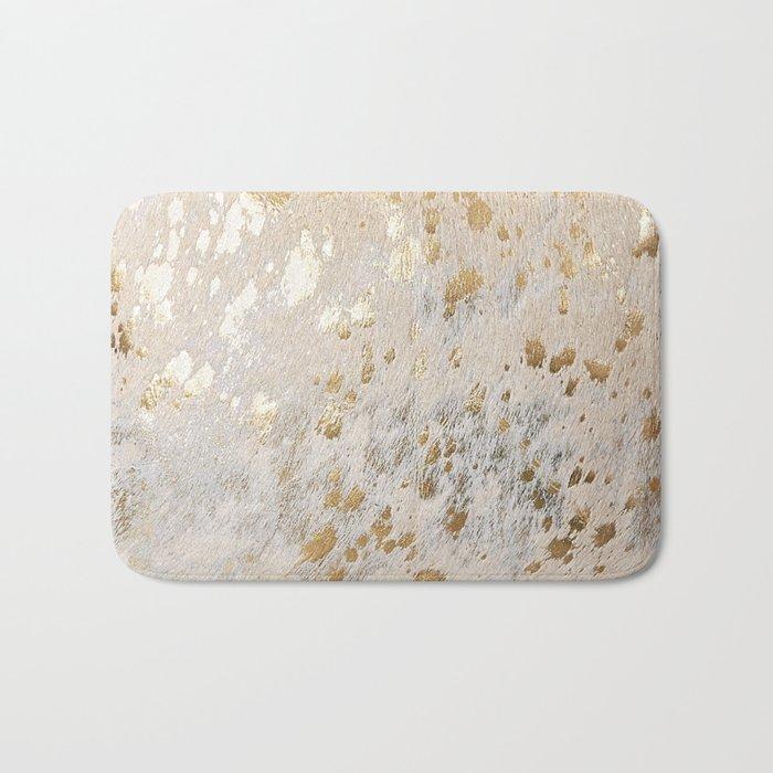 Gold Hide Print Metallic Bath Mat