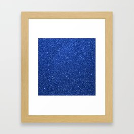 Cobalt Blue Glitter Framed Art Print