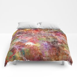 Riverside map Comforters