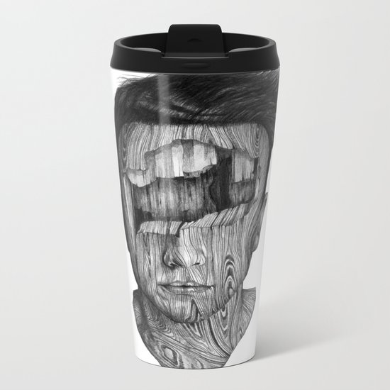 wood kid Metal Travel Mug