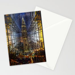 Rain in a City Stationery Cards