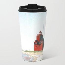 Big Red Metal Travel Mug