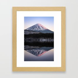 Mount Fuji in Rose Framed Art Print