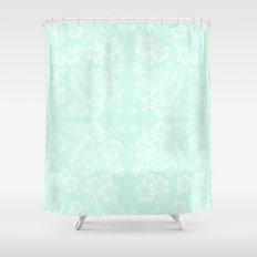 Mint-green Shower Curtains | Society6