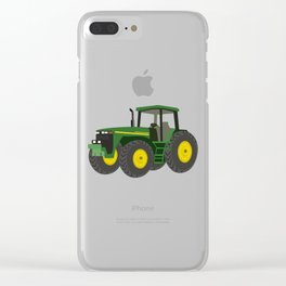Green Farm Tractor Clear iPhone Case