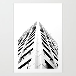 Keep Your Aim High (White Symmetry) Art Print