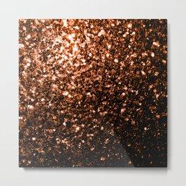 Beautiful Bronze Orange Brown glitters sparkles Metal Print