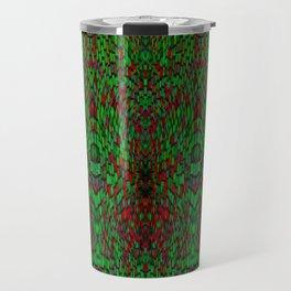 Red and Green Pattern Travel Mug