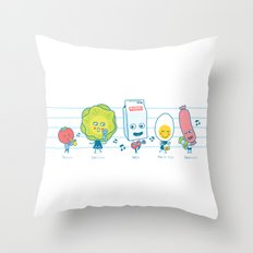 The Breakfast Song Throw Pillow