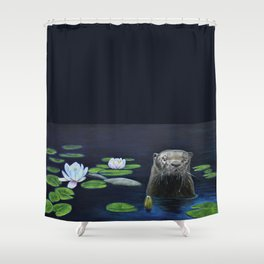 The River Otter by Teresa Thompson Shower Curtain