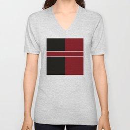 Team Color 6...Maroon,black Unisex V-Neck