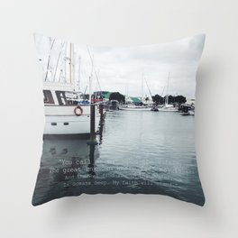 Boats and Water Throw Pillow