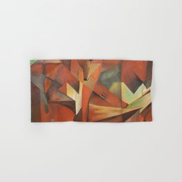 Foxes - Homage to Franz Marc (1913) Hand & Bath Towel