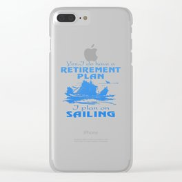 SAILING PLAN Clear iPhone Case