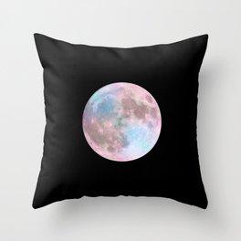 Iridescent Dark Moon Throw Pillow