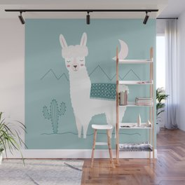 Alpaca In The Mountains Wall Mural