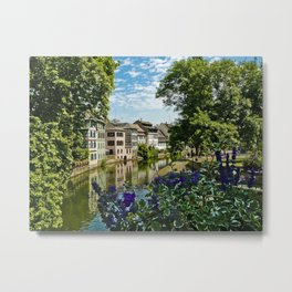 At the Canal de la Sarre Metal Print