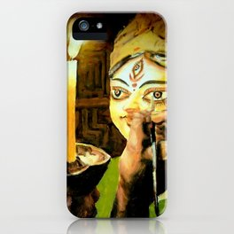 Worship of the Goddess in Bad Time iPhone Case