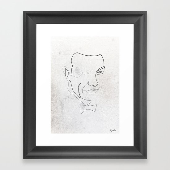 One line 007 (Sean Connery) Framed Art Print