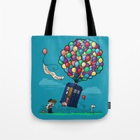 hallion Tote Bags featuring Come Along, Carl by Karen Hallion Illustrations