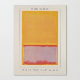 Advertisement mark rothko yale university art Canvas Print