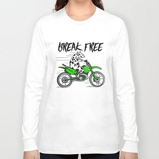 Cow riding a motorbike Long Sleeve T-shirt