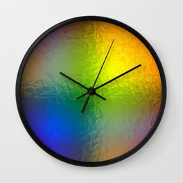 Rainbow Abstract Gradient Painted Pattern Wall Clock