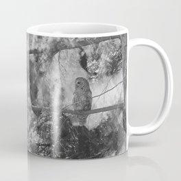 Owl Spirit in the Woods, Shades of Gray Coffee Mug