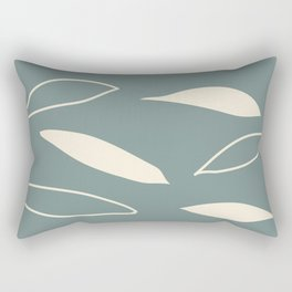 Tea Leaves Green Rectangular Pillow