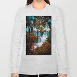 Paradise of Waterfalls (Color) Long Sleeve T-shirt
